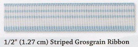 1.27cm Striped Grosgrain Ribbon Share