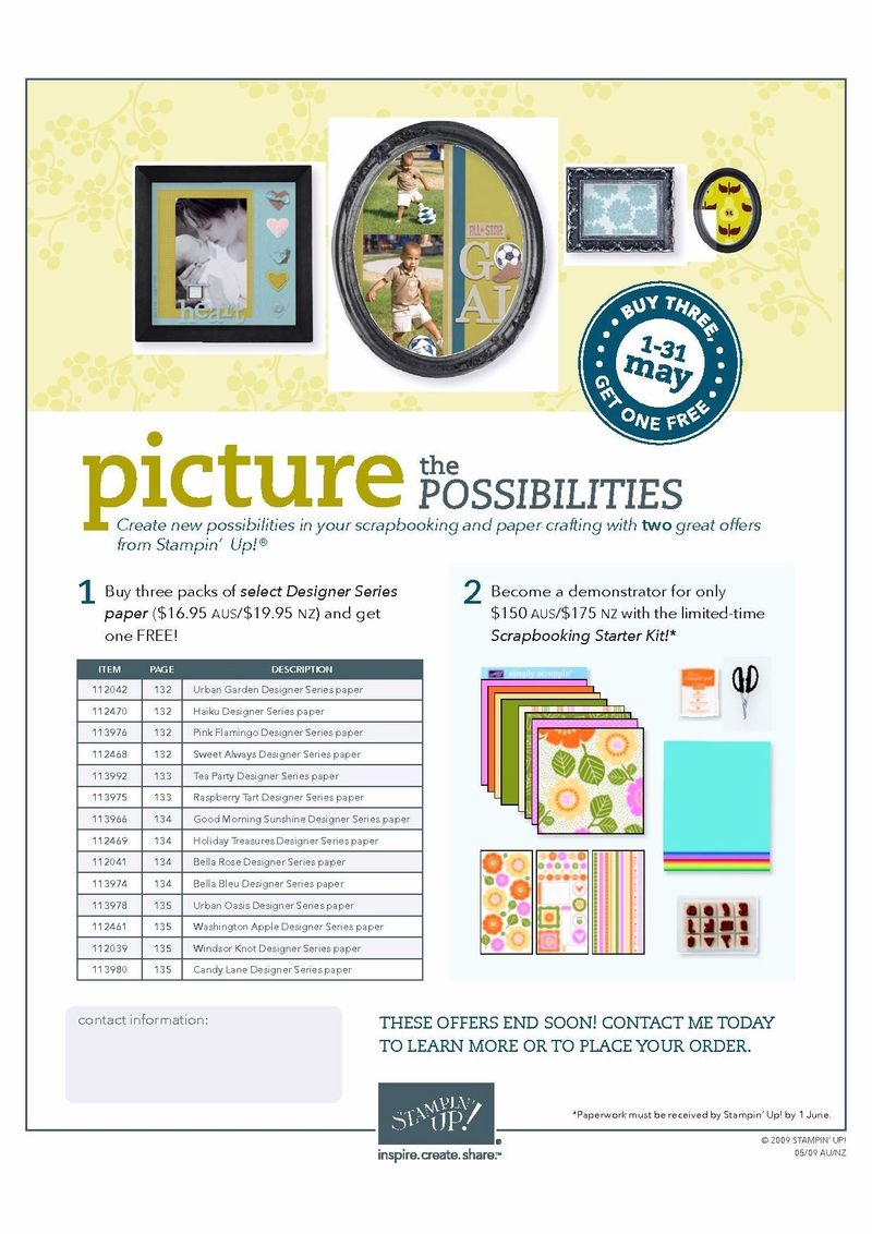 PicturethePossibilities May Promotion