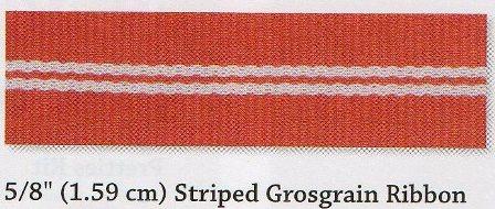 1.59cm In Colour Striped Grosgrain Ribbon Share